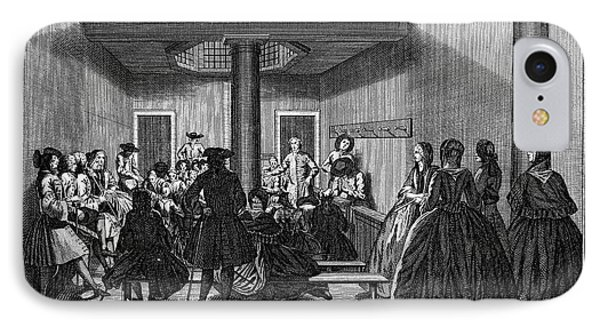 Quaker Meeting, C1790 Phone Case by Granger