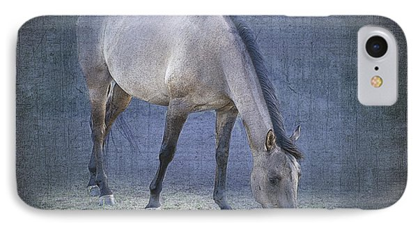 Quarter Horse In Blue Phone Case by Betty LaRue