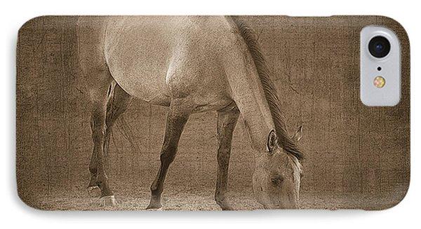 Quarter Horse In Sepia Phone Case by Betty LaRue