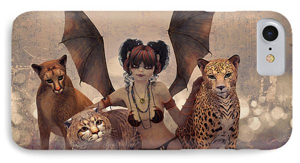 Queen Of Cats IPhone Case by Jutta Maria Pusl