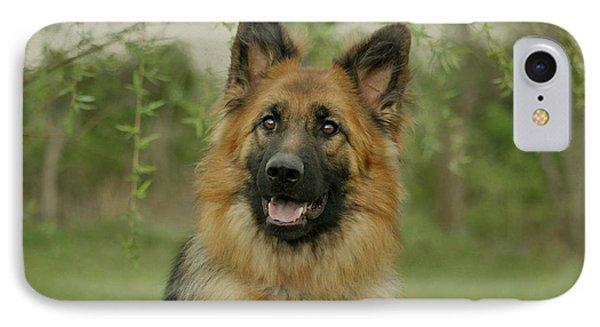 Queena - German Shepherd Phone Case by Sandy Keeton