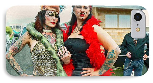 IPhone Case featuring the photograph Queenie And Bettie by Pamela Patch