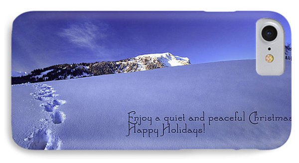 Quiet And Peaceful Christmas Phone Case by Sabine Jacobs