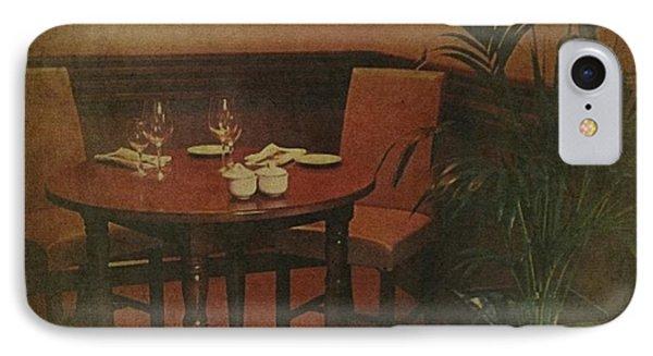 Quiet Nook In Hotel Dining Room IPhone Case