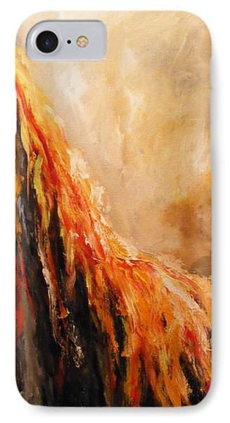 IPhone Case featuring the painting Quite Eruption by Karen  Ferrand Carroll