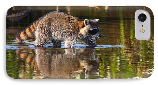 Raccoon Foraging  Phone Case by Bruce J Robinson
