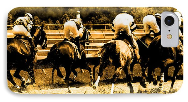 IPhone Case featuring the photograph Race To The Finish Line by Alice Gipson