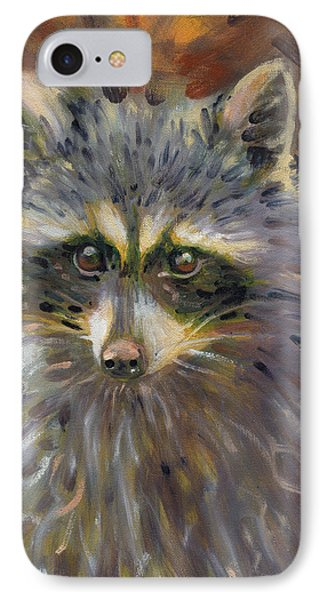 IPhone Case featuring the painting Racoon by Donald Maier