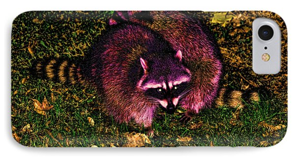 Racoons In Stanley Park Phone Case by Lawrence Christopher