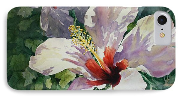 Radiant Light - Hibiscus IPhone Case by Roxanne Tobaison