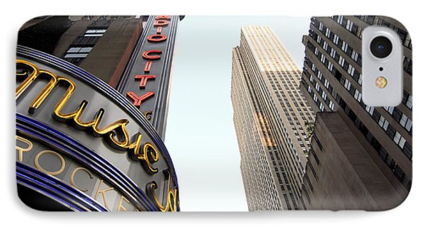 IPhone Case featuring the photograph Radio City Music Hall by Michael Dorn