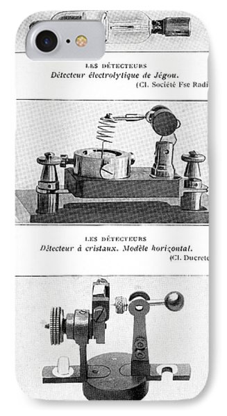 Radio Receiver Components, 1914 Phone Case by