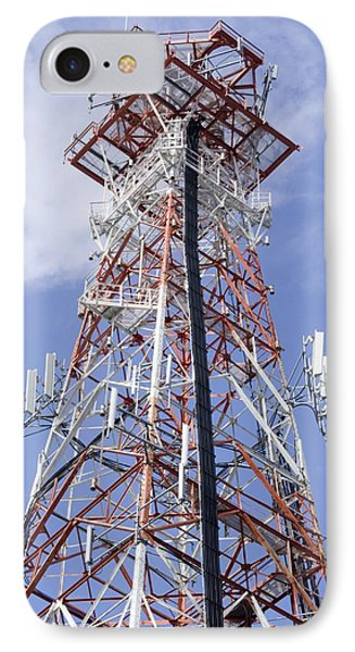 Radio Transmitter Mast Phone Case by Mark Williamson