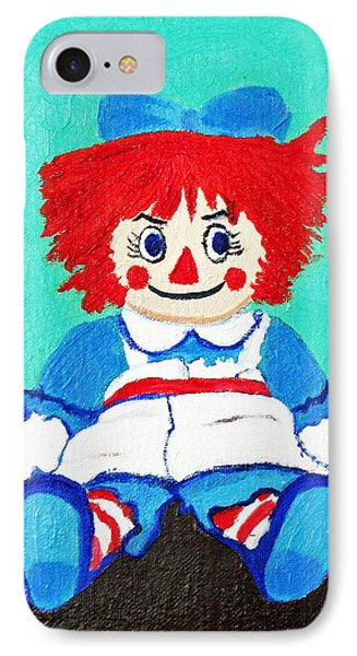 Raggedy Ann With An Attitude IPhone Case by Margaret Harmon