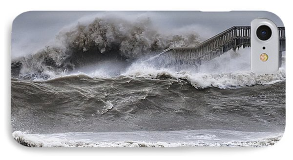 Raging Black Sea IPhone Case by Evgeni Dinev