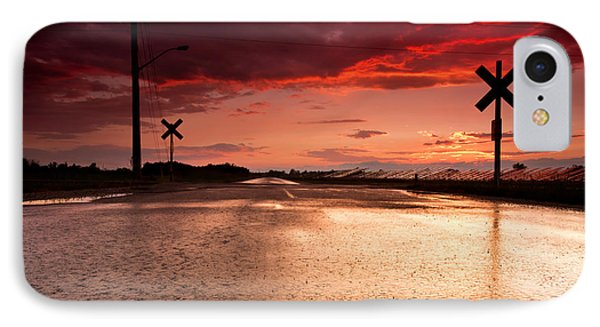 Railroad Sunset Phone Case by Cale Best