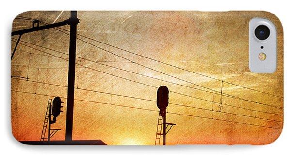 Railroad Sunset IPhone Case