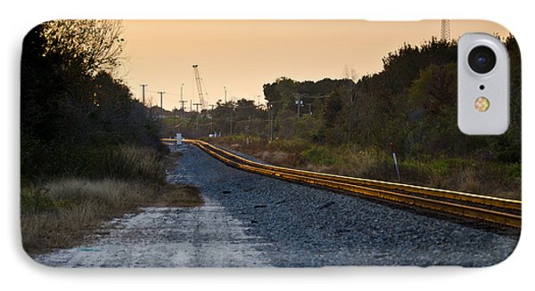 Railway Into Town Phone Case by Carolyn Marshall