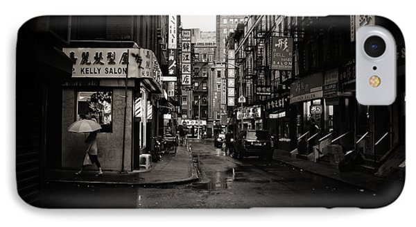 Rain - Pell Street - New York City IPhone Case by Vivienne Gucwa
