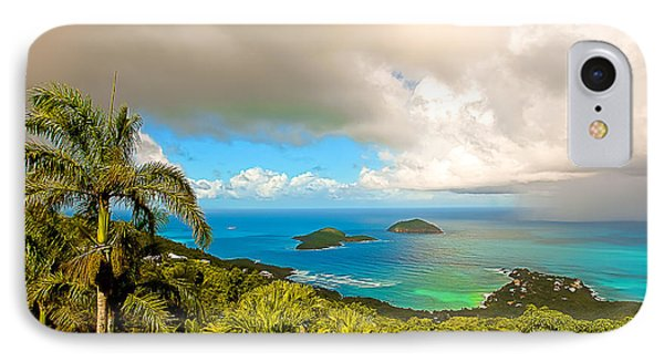 Rain In The Tropics Phone Case by Keith Allen