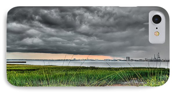 Rain Rolling In On The River IPhone Case