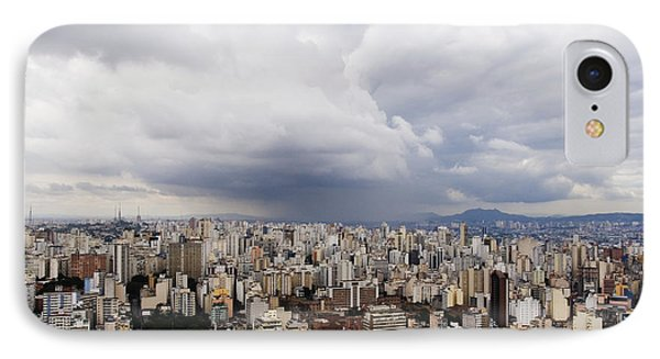 Rain Shower Approaching Downtown Sao Paulo Phone Case by Jeremy Woodhouse
