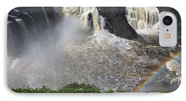 IPhone Case featuring the photograph Rainbow And The Waterfall by Vilas Malankar