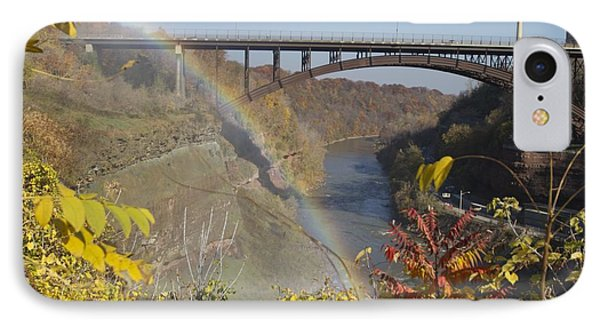 IPhone Case featuring the photograph Rainbow At Lower Falls by William Norton