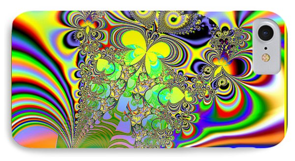Rainbow Butterfly Bouquet Fractal 56 Phone Case by Rose Santuci-Sofranko