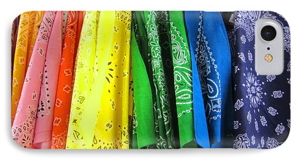 Rainbow Full Of Bandanas Phone Case by Kym Backland