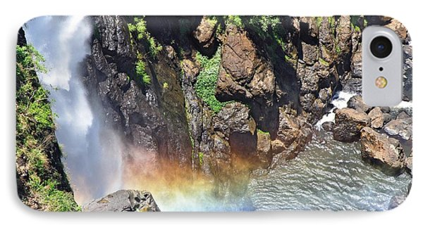 Rainbow In The Mist IPhone Case by Kaye Menner