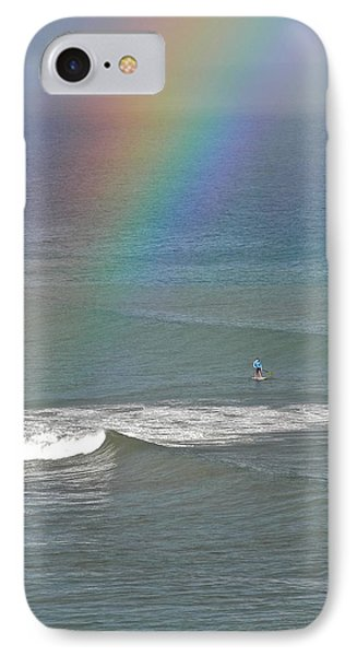IPhone Case featuring the photograph Rainbow Mists And Surfing Too by Kirsten Giving
