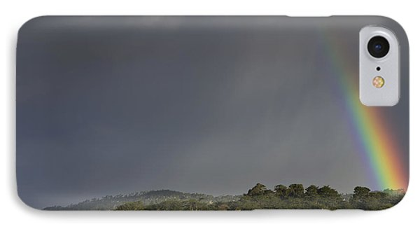 Rainbow Over Carmel Phone Case by Mike Herdering