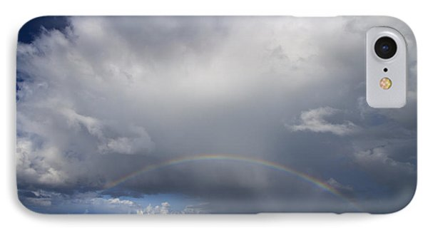 Rainbow Over Emerald Bay Phone Case by Dennis Hedberg
