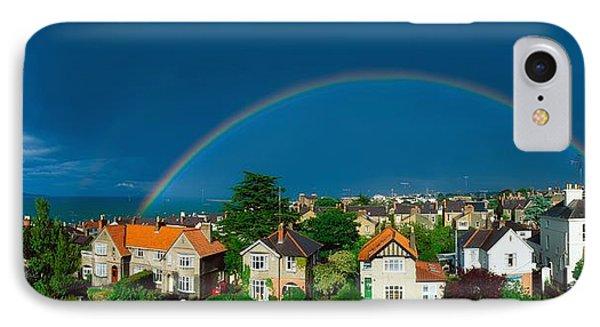 Rainbow Over Housing, Monkstown, Co IPhone Case