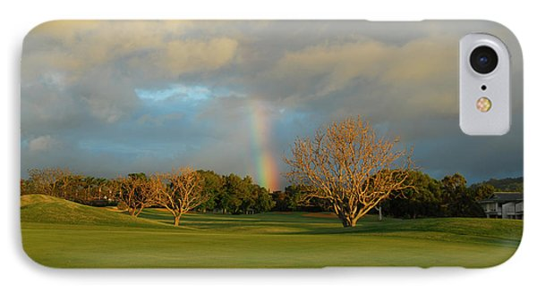 IPhone Case featuring the photograph Rainbow Over Princeville by Lynn Bauer