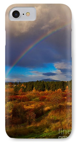 Rainbow Over Rithets Bog Phone Case by Louise Heusinkveld