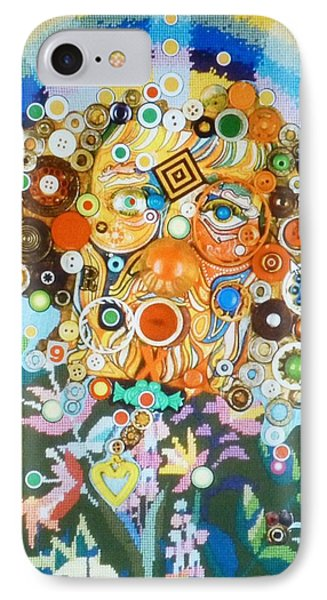 IPhone Case featuring the mixed media Rainbow Man by Douglas Fromm