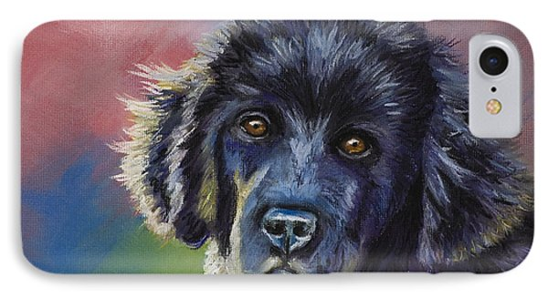 Rainbows And Sunshine - Newfoundland Puppy IPhone Case by Michelle Wrighton