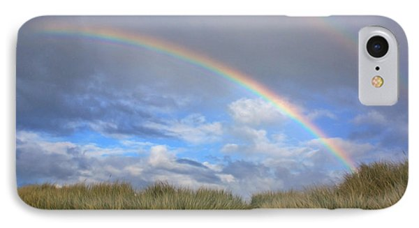 Rainbows Over The Sand IPhone Case by Tyra  OBryant