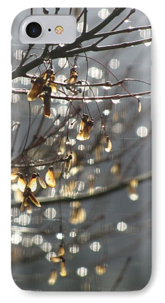 IPhone Case featuring the photograph Raindrops And Leaves by Katie Wing Vigil