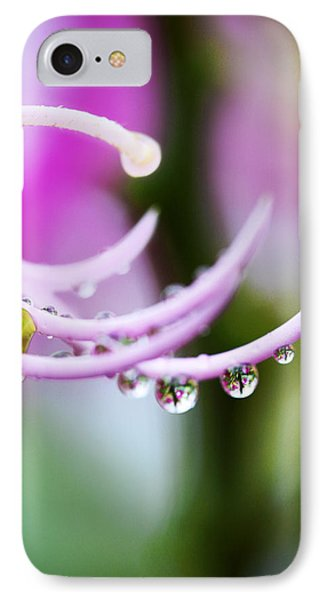 Raindrops On Amherstia Nobilis Phone Case by Marilyn Hunt