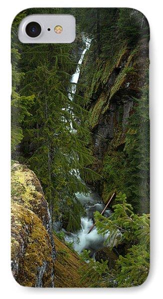 Rainier Gorge Vista IPhone Case by Mike Reid