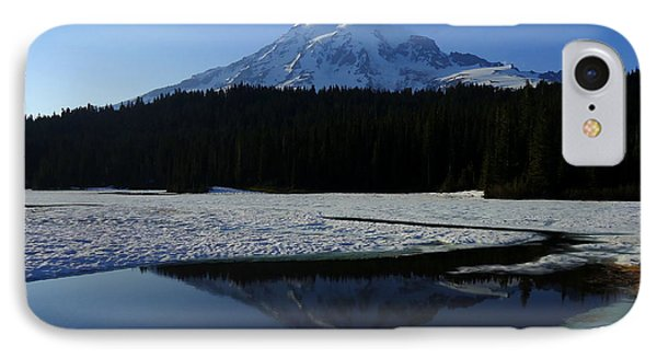 Rainier Reflected IPhone Case by Peter Mooyman