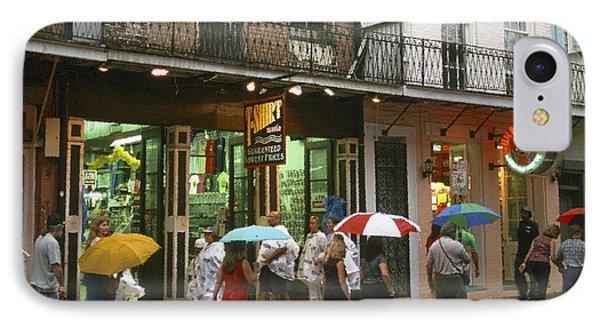 Rainy Evening On Bourbon Street  Phone Case by Thomas R Fletcher