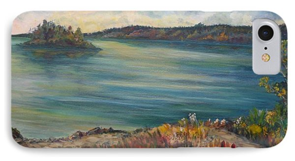 Rainy Lake Michigan Phone Case by Julie Brugh Riffey