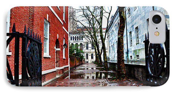 Rainy Philadelphia Alley Phone Case by Bill Cannon