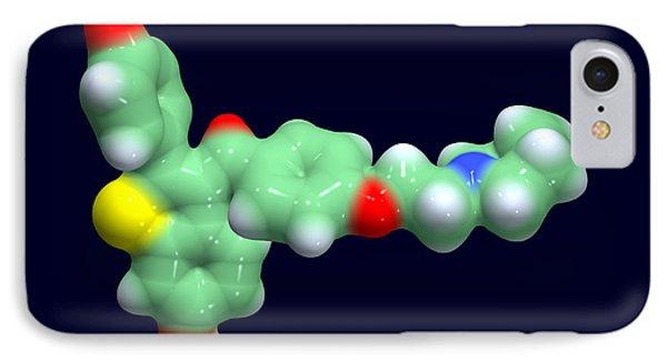 Raloxifene Osteoporosis Drug Molecule Phone Case by Dr Tim Evans