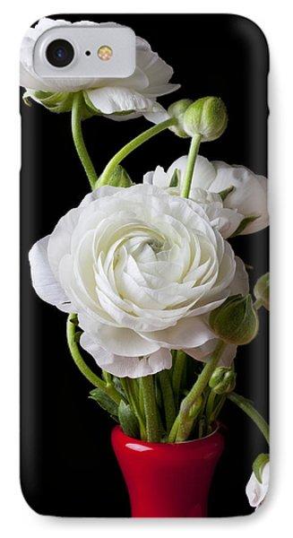 Ranunculus In Red Vase Phone Case by Garry Gay