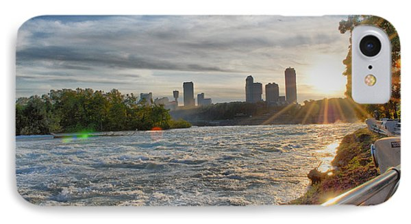 IPhone Case featuring the photograph Rapids Sunset by Michael Frank Jr